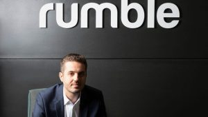 """Rumble CEO Chris Pavlovski says the site has seen """"tremendous"""" growth in recent months.  (Rumble)"""