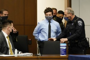 Kyle Rittenhouse appears for an extradition hearing in Lake County court Friday, Oct. 30, 2020, in Waukegan, Ill.