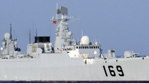 Chinese destroyer DDG-169 Wuhan in a file photo.