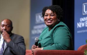 Stacey Abrams (Staff photo by Ben McCanna/Portland Press Herald via Getty Images)