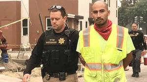 In this photo from Sept. 11, 2020, Vacaville police arrest Serriteno in the murder of Castro. (Vacaville Police Department)