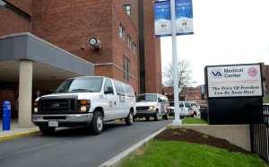 Vans line up at the VA Hospital. (David Lassman | dlassman@syracuse.com/TNS)