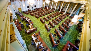 """""""California state capitol building interior, State Assembly room."""""""