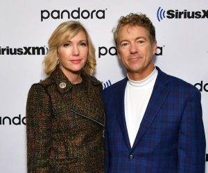 Senator Rand Paul and wife author Kelley Paul visit SiriusXM for Town Hall with Olivier Knox and Julie Mason on October 11, 2019,