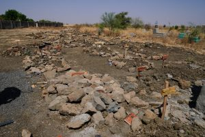 A section of the mass graves at Abune Aregawi Ethiopian Orthodox Church, Ethiopia,