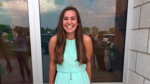 In this September 2016 photo provided by Kim Calderwood, Mollie Tibbetts,