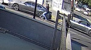 A gunman appeared to open fire on another vehicle in broad daylight on Wednesday.