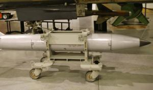 A U.S. B61 Thermonuclear Bomb kept in the U.S. Air Force nuclear arsenal. (U.S. Air Force photo/Released)