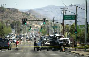 The Phoenix Police officer driving the vehicle, Ginarro New, was killed in the crash late Monday evening, May 31, 2021.