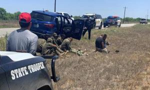 Seven immigrants and an alleged human trafficker apprehended in La Salle County, Texas,
