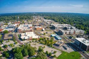 Aerial view of Overland Park, Kansas, a suburb of Kansas City  Jacob Boomsma | Shutterstock
