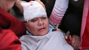 Many health-care workers treated injured protesters.