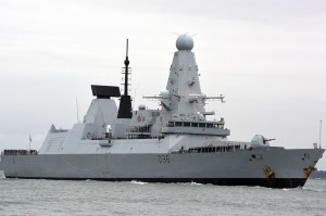 HMS Defender, a Type 45 destroyer, is part of the U.K. Carrier Strike Group currently heading to the Indo-Pacific region.