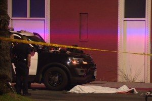 One person, a suspect in the shooting was reportedly found dead inside of a car. Backgrid