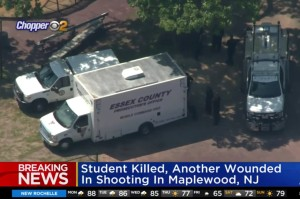 Police investigating a shooting that left one high school student dead and another injured on June 6, 2021 in Maplewood, New Jersey. CBS New York