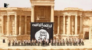 ISIS members in Palmyra, Syria in 2015 | File photo: AFP