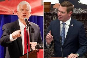 Rep. Mo Brooks accused Rep. Eric Swalwell's team of breaking into his home in order to serve the lawsuit papers.