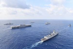 US, Japan, India and Philippines ships in the South China Sea (U.S. Navy photo courtesy of the Japan Maritime Self-Defense Force,