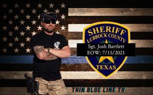 Sgt. Josh Bartlett of the Lubbock County Sheriff's Office