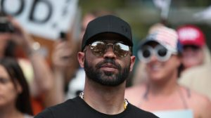 Enrique Tarrio, leader of the Proud Boys,  (Photo by Joe Raedle/Getty Images)