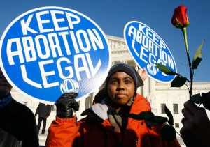 A pro-abortion protester / Getty Images