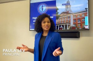 Paula Lev, principal of the High School for Law and Public Service, is under investigation by the Department of Education after allegedly making controversial statements about white faculty members.YouTube