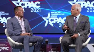 Richard Grenell at CPAC in Dallas Texas, on July 10, 2021. (Courtesy of CPAC Texas/Screenshot via NTD)