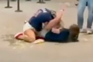Two women fight at a Braves game on Aug. 11, 2021. Everything Georgia on Twitter