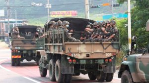 It is understood North Korea is handing out emergency military reserves of rice due to major food shortages.