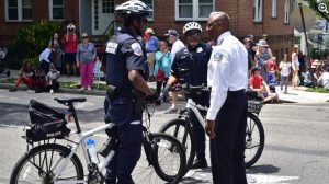 Washington Metropolitan Police gather on bikes. A new unit will be manned by officers on bikes and scooters. (Washington D.C., Metropolitan Police Dept.)