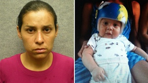 In photos provided to KTLA, Sonia Hermosillo is seen next to her son Noe, who she is accused of killing.