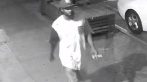 NYPD Crime Stoppers released surveillance footage showing the unidentified male suspect wanted in connection to a forcible touching incident in Brooklyn.  ( NYPD Crime Stoppers)