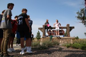 Students at Legend High School in Parker walked out of class on Sept. 1 in protest of a masking mandate that went into effect that morning.JESSICA GIBBS
