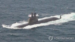 This file photo provided by Yonhap News TV shows the 3,000-ton-class Dosan Ahn Chang-ho submarine to be equipped with ballistic missiles. (PHOTO NOT FOR SALE) (Yonhap)