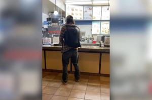 An unmasked Canadian man relieved himself on the counter of a Dairy Queen over a mask mandate. Facebook