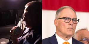 Image via Twitter @jasonrantz screenshot (left), Karen Ducey/Getty Images (right)